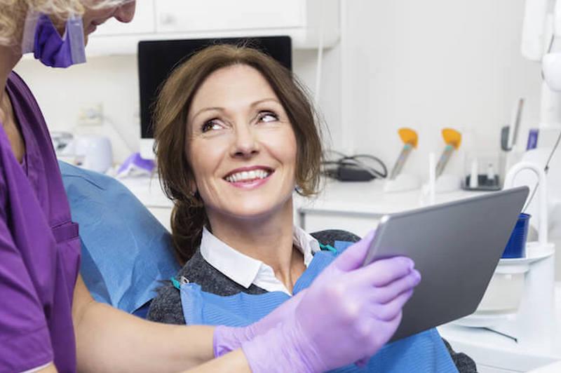 Older Woman at Dentist Visit