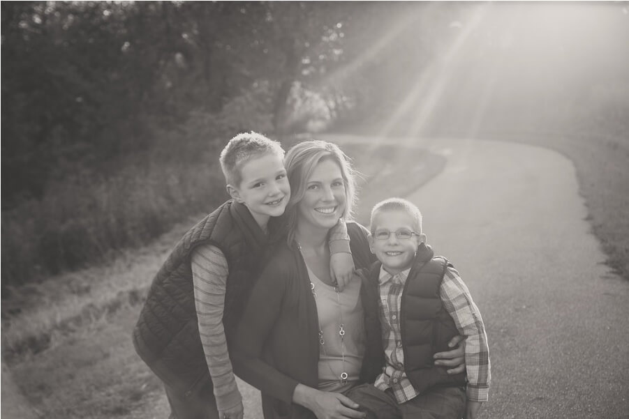 Dr. Dew's wife and two sons